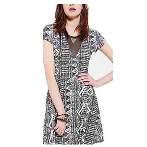 Urban Outfitters Abstract Snake Print Skater Dress